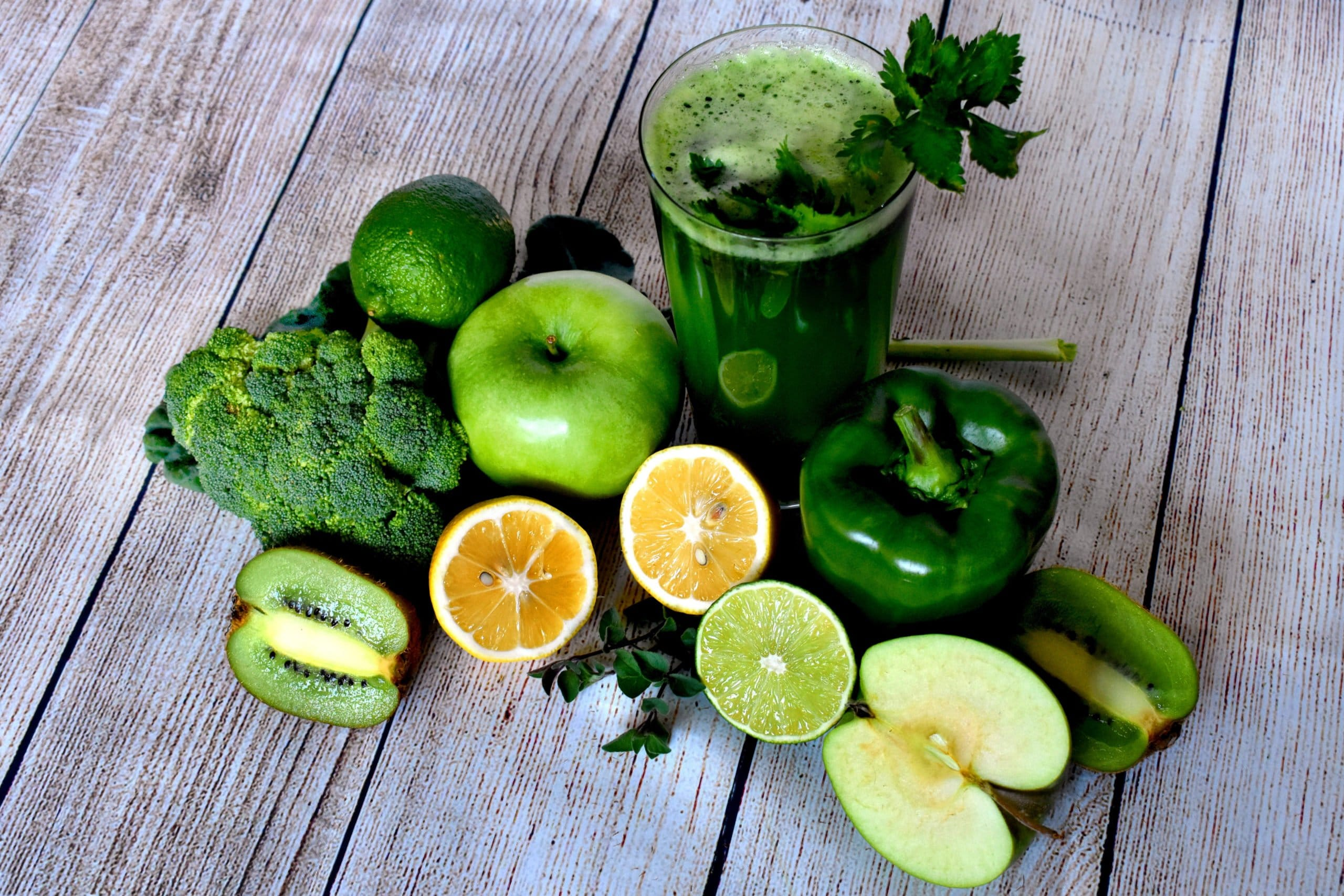 Canva Green Vegetables and Fruits for a Smoothie scaled